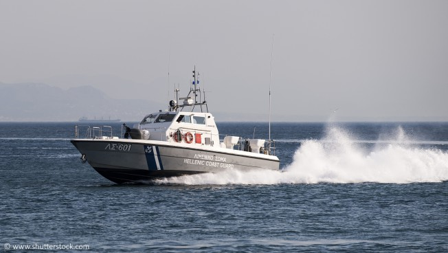 Patroullienboot auf dem Mittel