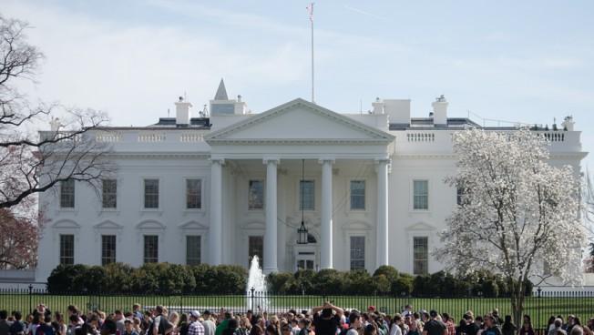 Das Weiße Haus in Washington, Amtssitz des amerikanischen Präsidenten