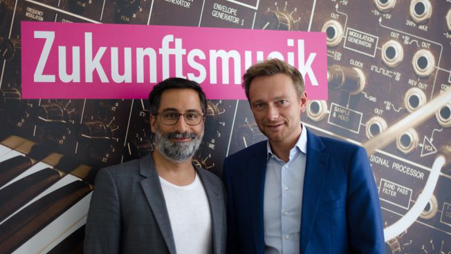 Alexander Görlach mit FDP-Chef Christian Lindner