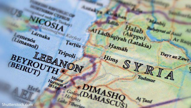 Karte vom Libanon