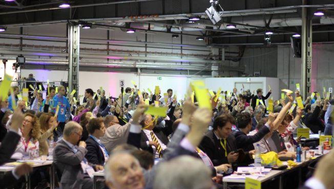 Abstimmung auf dem 66. Ord. Bundesparteitag der FDP in Berlin