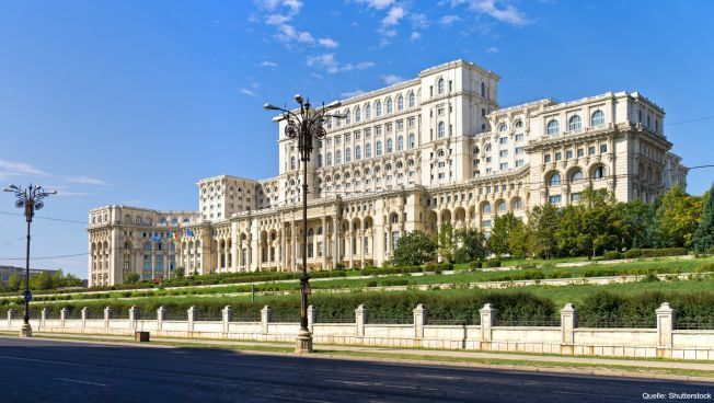 Parlament in Bukarest / Quelle: Shutterstock
