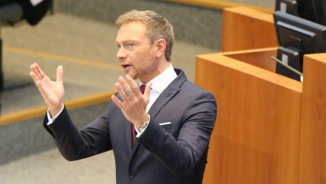 Christian Lindner spricht im Landtag NRW
