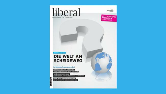 Cover der aktuellen Ausgabe des Debattenmagazins liberal