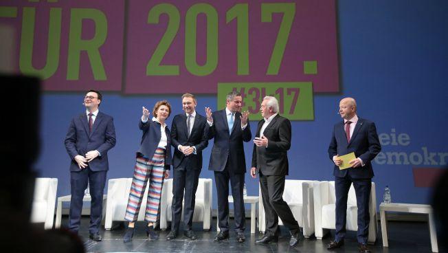Oliver Luksic, Nicola Beer, Christian Lindner, Hans-Ulrich Rülke, Wolfgang Kubicki, Michael Theurer