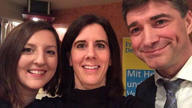 Cecile Bonnet-Weidhofer, Katja Suding und Hagen Reinhold
