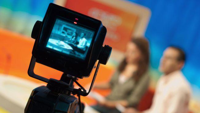Fernsehkamera in einem TV-Studio
