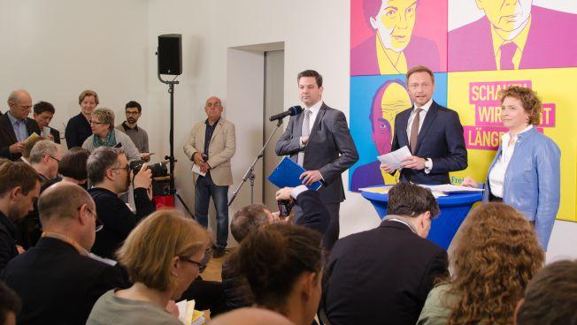 Pressekonferenz mit Christian Lindner und Nicola Beer