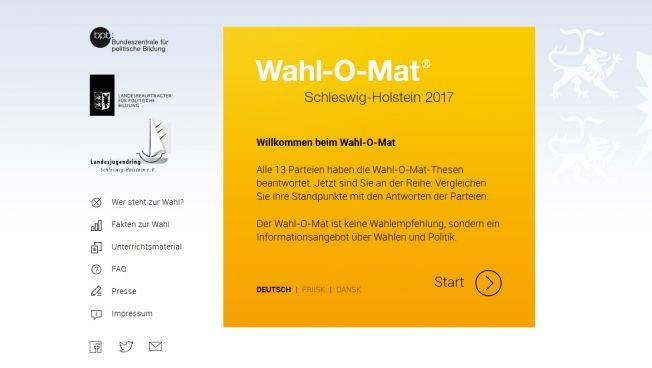 Wahl-O-Mat für Schleswig-Holstein