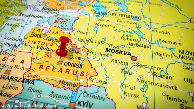 Karte von Weißrussland / Quelle: andriano.cz / Shutterstock.com