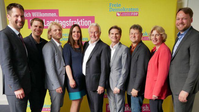Die neun FDP-Abgeordneten