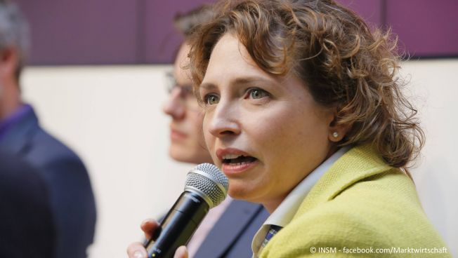 Nicola Beer fordert die Achtung der Grundrechte. Bild: INSM - facebook.com/Marktwirtschaft