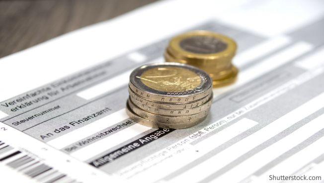 EInkommensteuer, Steuererklärung, Euromünzen