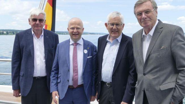Jürgen Morlok, Michael Theurer, Kaspar Villiger und Wolfgang Gerhardt