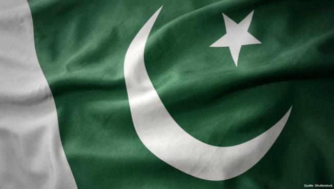 Die pakistanische Flagge