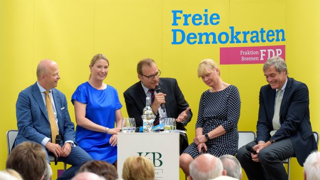 Michael Theurer, Lencke Steiner, Malte Bastian, Christiane Niebuhr, Ingo Kramer (Foto: Boris Schmelter)