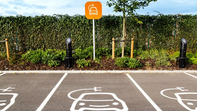Parkplatz für E-Autos
