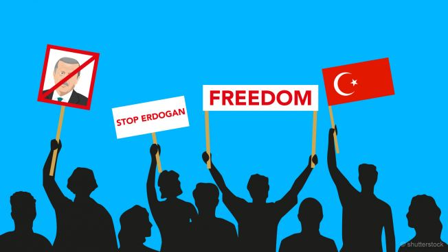 Protest gegen Erdogan