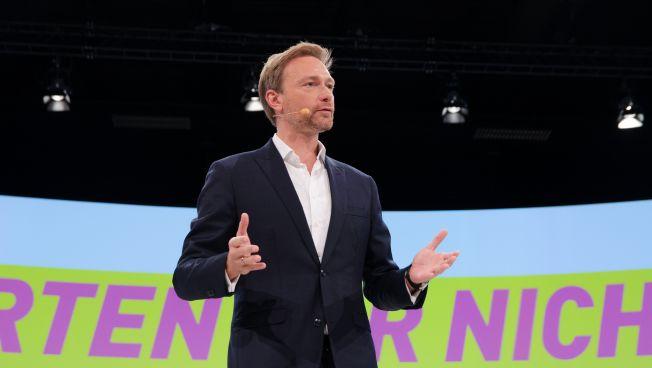 Christian Lindner spricht auf dem Bundesparteitag