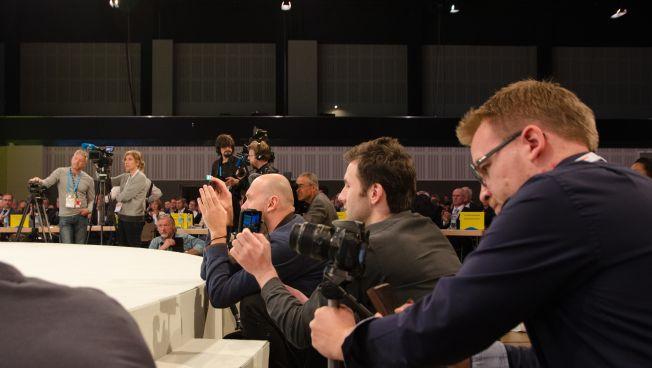 Medienvertreter beim FDP-Bundesparteitag