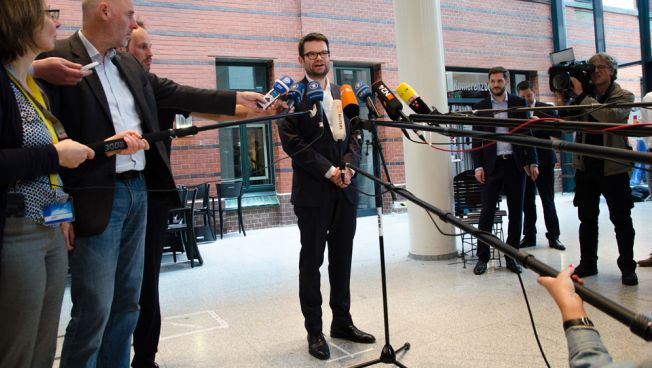 Marco Buschmann nach der konstituierenden Sitzung der FDP-Bundestagsfraktion i.G.