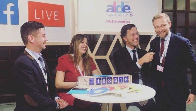 Der niederländische Ministerpräsident Mark Rutte und FDP-Chef Christian Lindner im ALDE-Livechat. Bild: instagram.com/cl2017