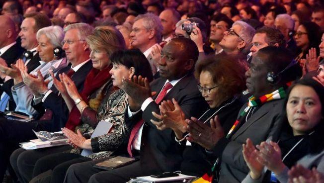 Cyril Ramaphosa beim Weltwirtschaftsforum in Davos. Bild: CC BY-ND 2.0 flickr.com GovernmentZa (bearbeitet)