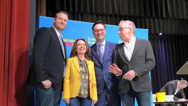 Der frisch gewählte Landesvorstand der FDP Saar