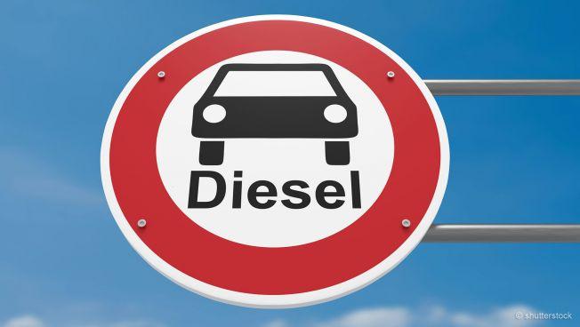 Diesel-Fahrverbots-Schild
