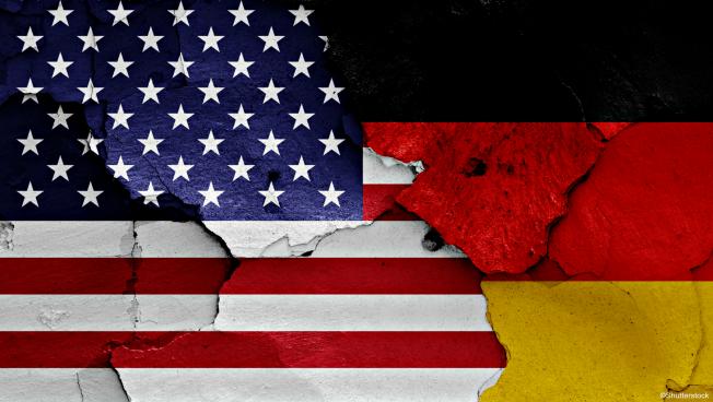 USA--Deutschland-Flagge