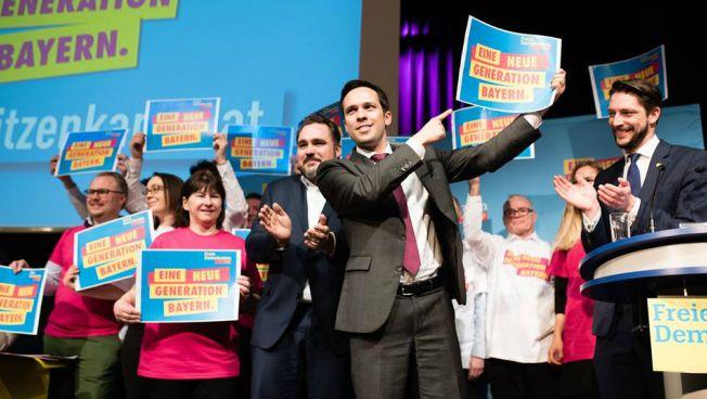 Martin Hagen beim Landesparteitag. Bild: FDP Bayern