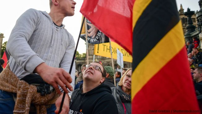 Rechtspopulisten auf den Straßen. Bild: David Greitzer / Shutterstock.com