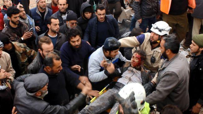 Weißhelme-Einsatz in Aleppo. Bild: Ammar Salmo.