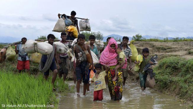 Rohingya-Familien flüchten vor Gewalt. Bild: Sk Hasan Ali / Shutterstock.com
