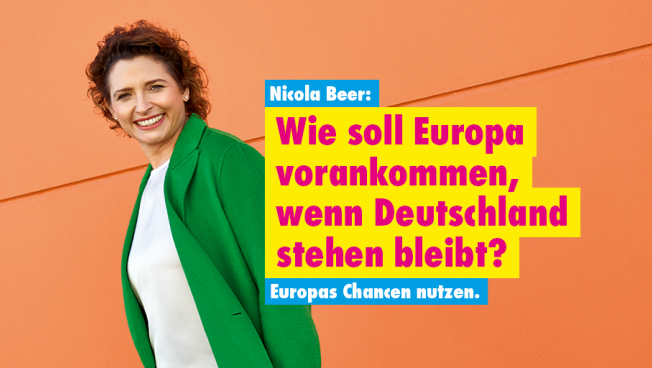 Plakatmotiv Europawahlkampagne