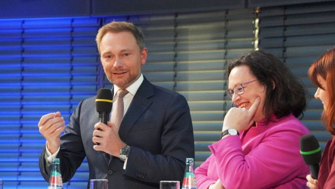 Christian Lindner und Andrea Nahles