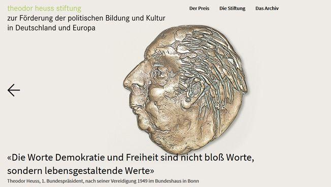Theodor Heuss Stiftung, Screenshot
