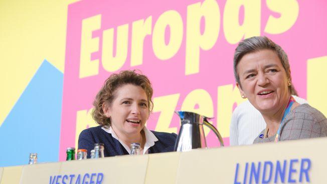 Nicola Beer und Margrethe Vestager