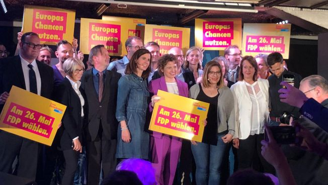 FDP-Spitzenkandidatin Nicola Beer im Endspurt