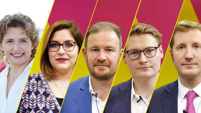 Nicola Beer, Svenja Hahn, Andreas Glück, Moritz Körner, Jan-Christoph Oetjen