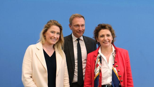 Lencke Steiner, Christian Lindner und Nicola Beer