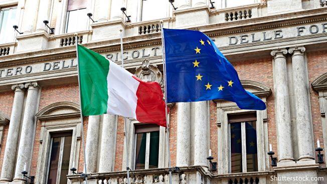 Flagge, Europa, EU, Italien