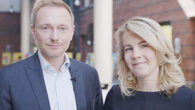 Christian Lindner und Linda Teuteberg