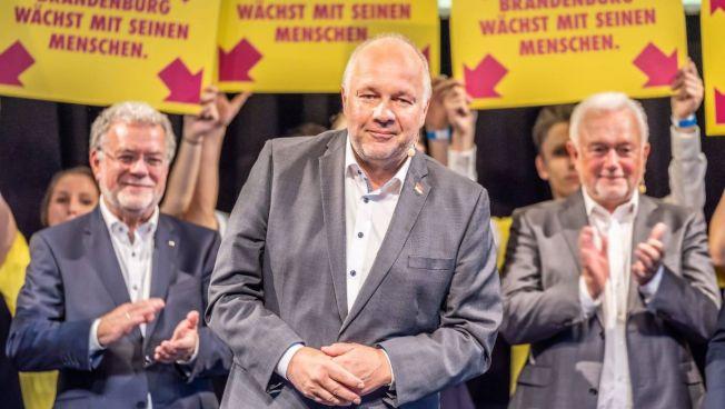Wahlkampfauftakt in Potsdam: Axel Graf Bülow, Hans-Peter Goetz, Wolfgang Kubicki