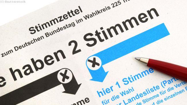 Wahlzettel, Stimmzettel, Brandenburg, Sachsen