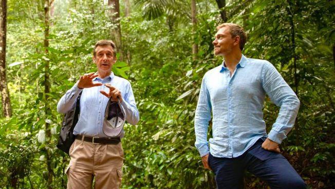 Dr. Christoph Hoffmann und Christian Lindner im Regenwald Malaysias © 2019 Patricia Krivanek Photography