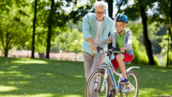 Rendner mit Enkel