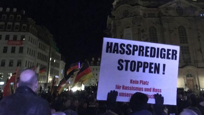 Demonstration, Menschen, Pegida