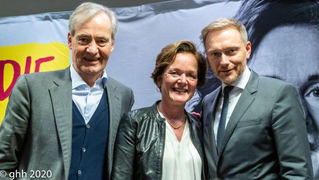 Anna von Treuenfels, Christian Lindner, Carl Jarchow (Foto: Gerhold Hinrichs-Henkensiefken)