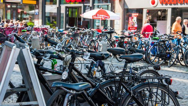 Parkende Fährräder